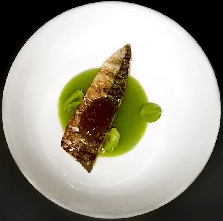Barbecued Mackerel with cucumber and seaweed (photo: Sam King/Ffion Morgan)