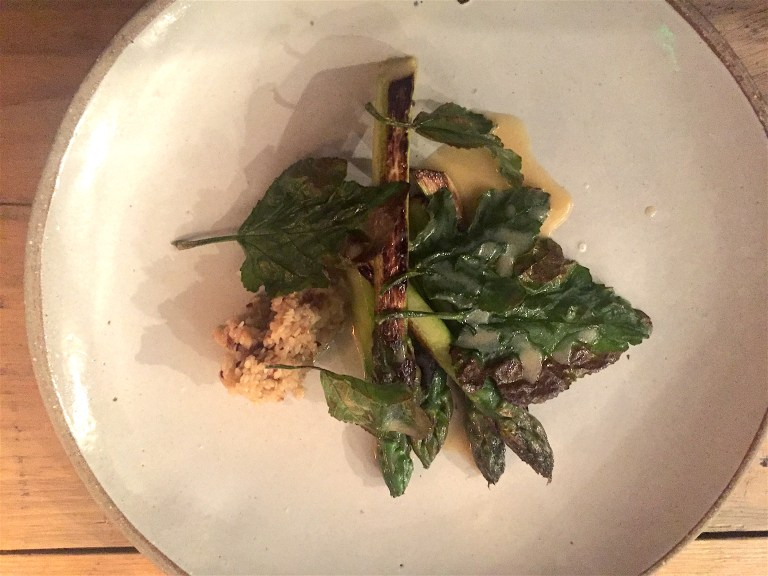 Asparagus and fig leaves