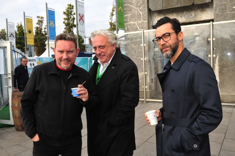 Albert Adria, Davide Scabin and Quique Dacosta at FOTE 2015. Photo: Boyd Challenger