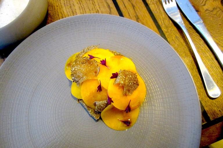 Autumn squash with burrata and truffle
