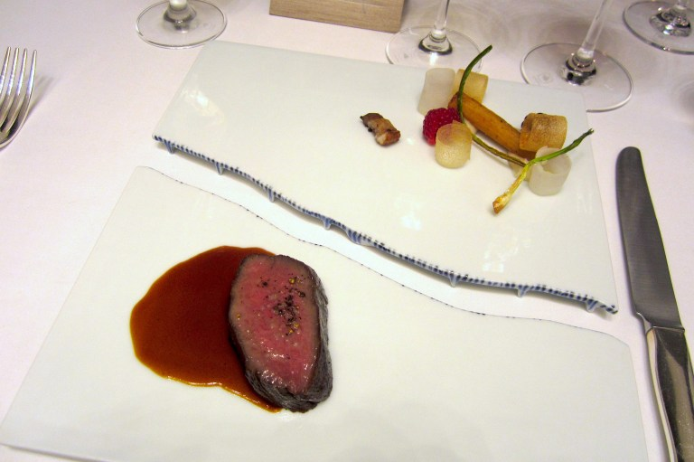 Venison with salsify roots