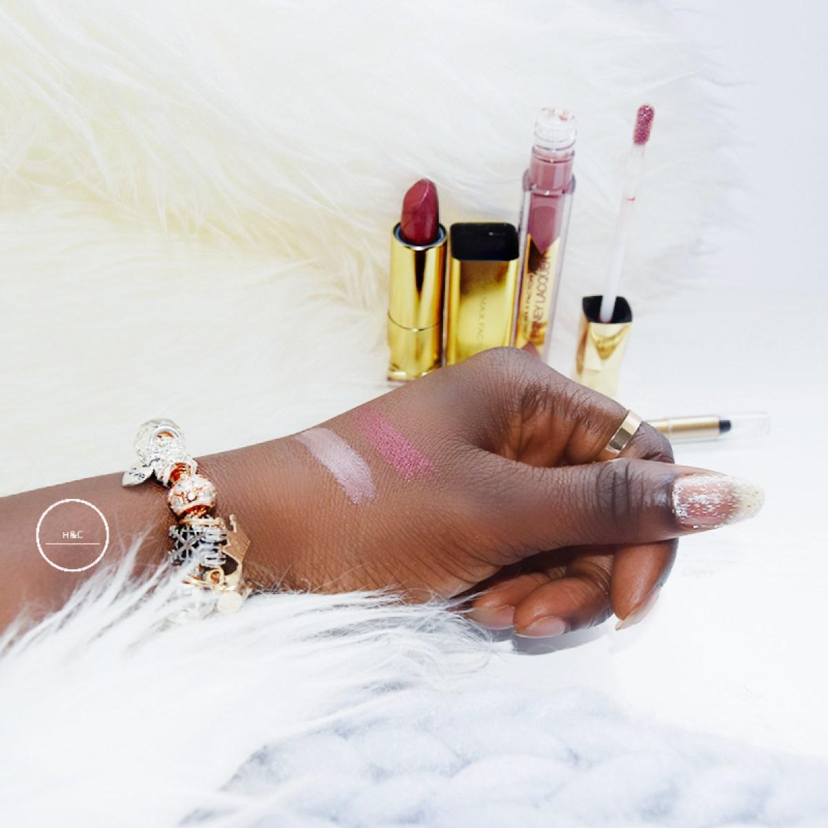 MAX FACTOR| Elixir Lipstick, Honey Lacquer, Universal Lipstick Liner Review