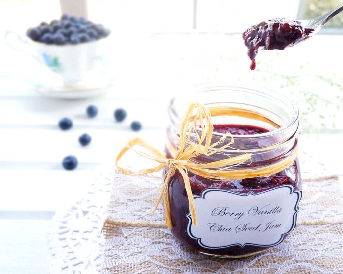 Berry Vanilla Chia Seed Jam