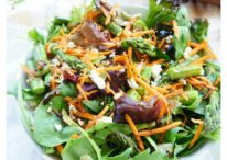 Gorgeous spring salad filled with roasted asparagus, pumpkin seeds, feta cheese and a balsamic vinaigrette. A vegetarian and gluten-free option!