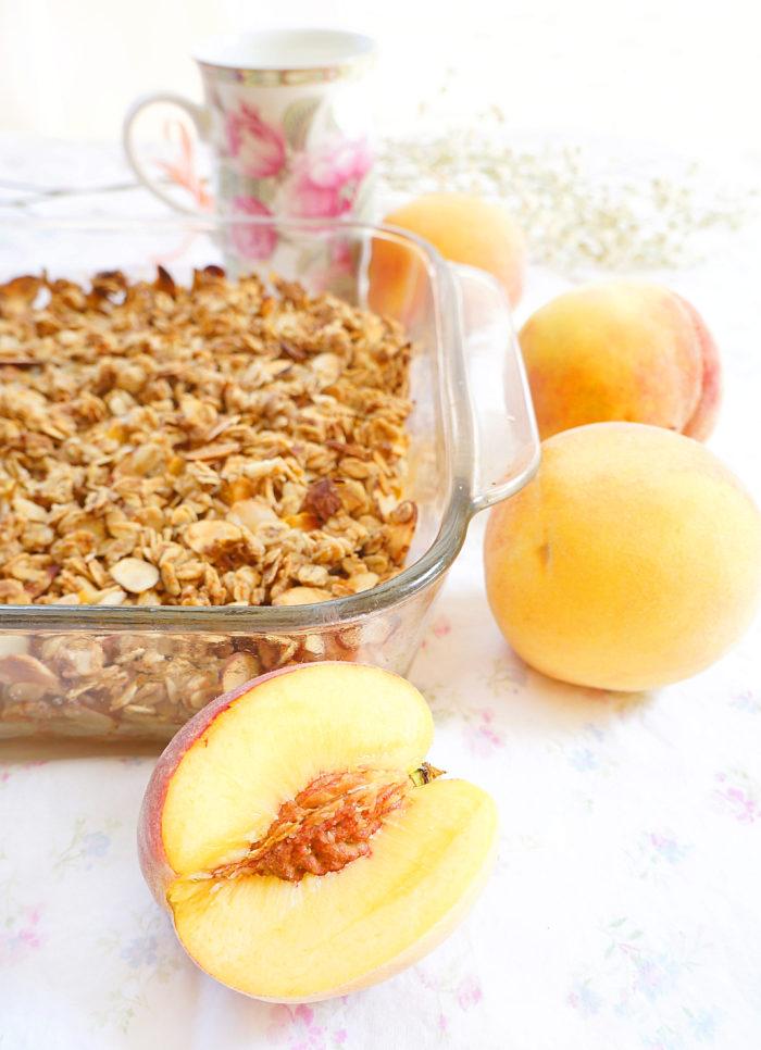 Peach & Almond Crumble