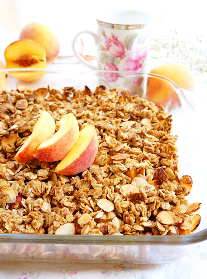 Peach & Almond Crumble