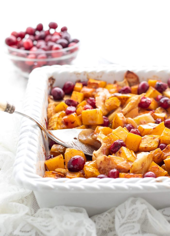 Squash Apple Cranberry Bake