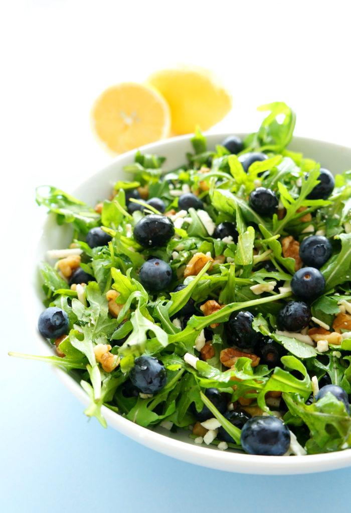 Blueberry Walnut Salad with Lemon Dressing   Haute & Healthy Living