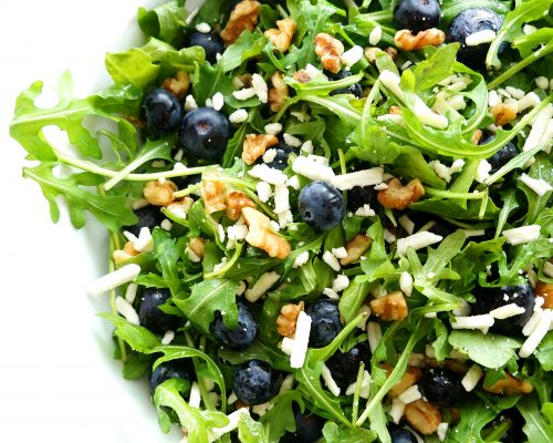 Blueberry Walnut Salad with Lemon Dressing