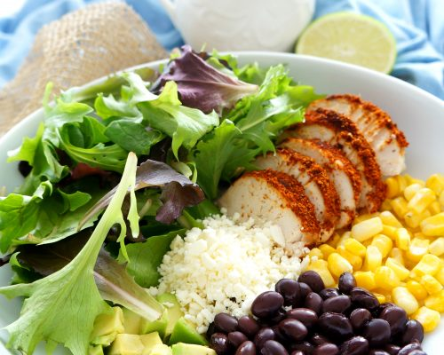 Cajun Chicken Salad with Peanut Lime Dressing