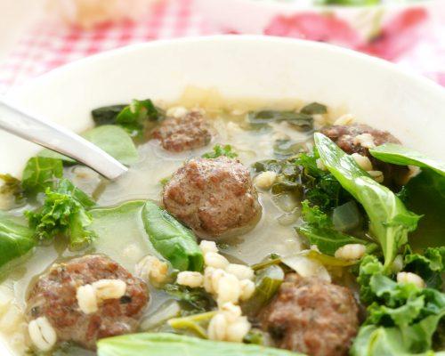 Meatball Barley Soup