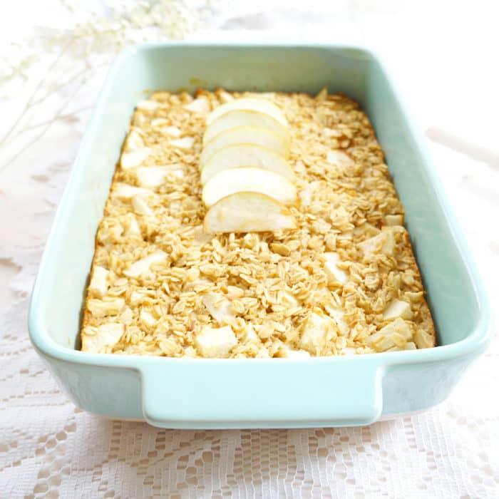 Baked Apple Oatmeal   Haute & Healthy Living
