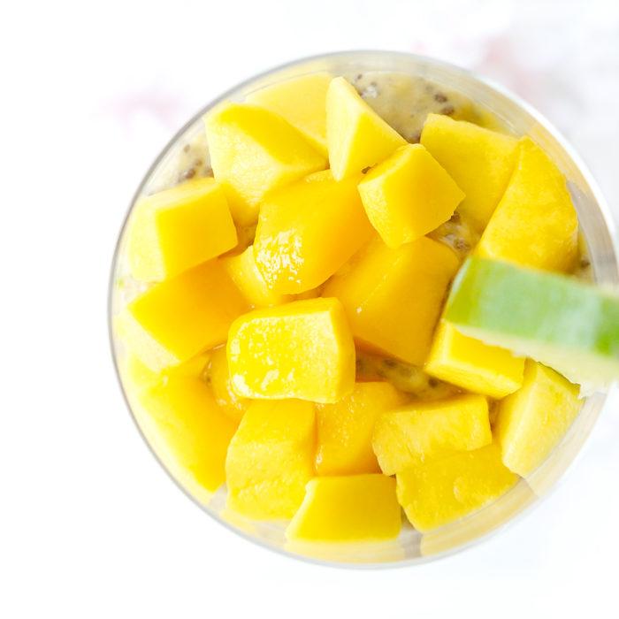 Mango Lime Chia Protein Pudding