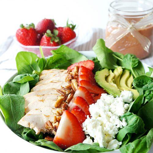 Grilled Chicken Strawberry Avocado Salad