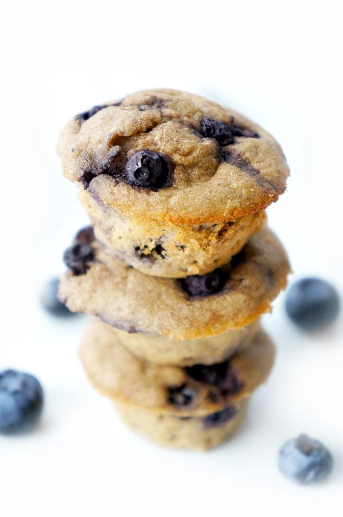 Mini Blueberry Banana Muffins