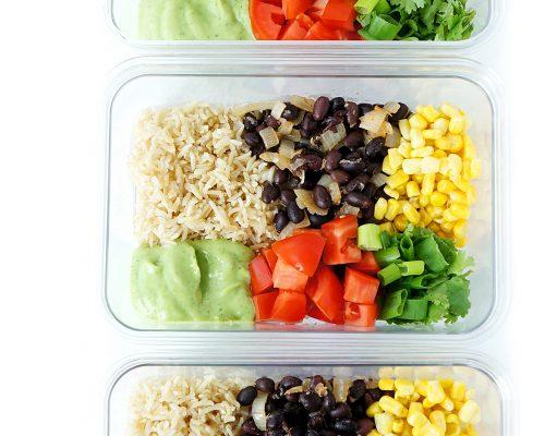 Black Bean & Brown Rice Meal Prep Bowls