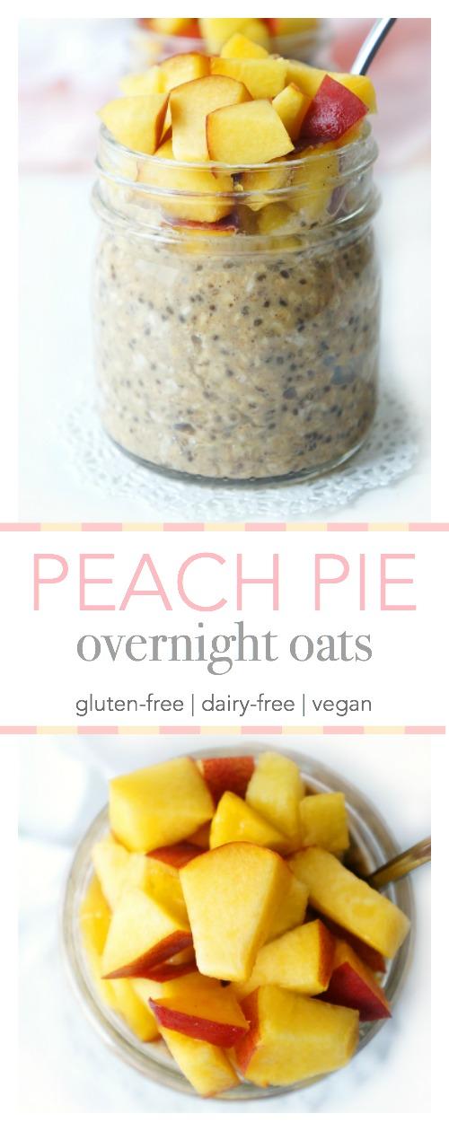 Peach Pie Overnight Oats