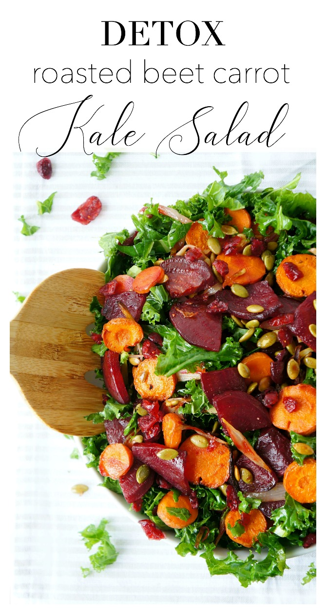 Roasted Beet, Carrot & Kale Salad