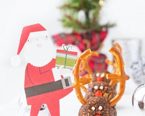 No-Bake Reindeer Energy Bites