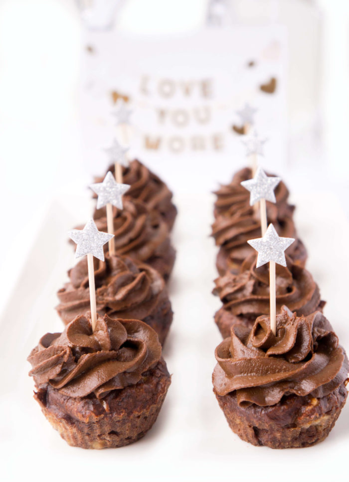 No-Sugar Added Chocolate Brownie Cupcakes