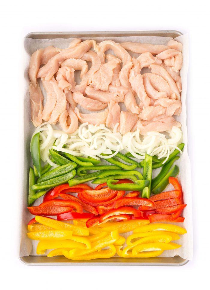 Healthy Sheet Pan Chicken Fajitas