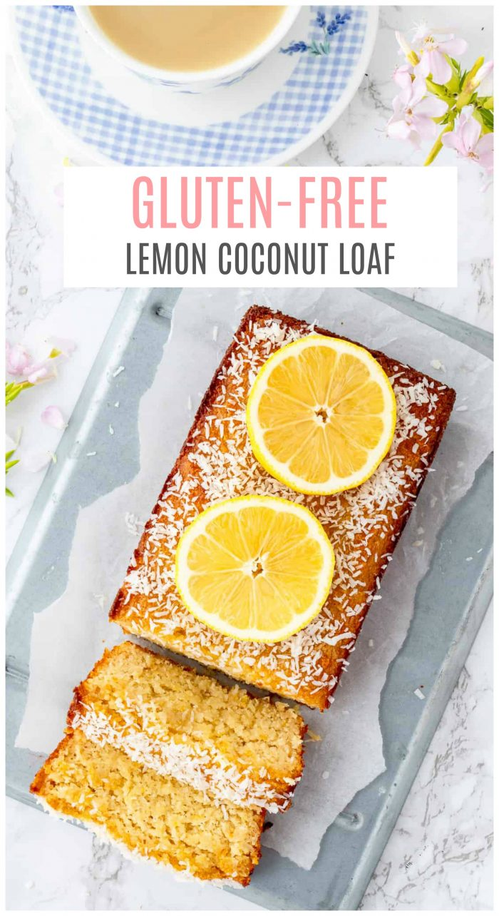 This gluten-free lemon coconut loaf with lemon drizzle is zesty, refreshing andso flavourful! Perfect to serve as a light and healthier treat or snack for Spring and Summer entertaining! {gluten-free, dairy-free, paleo, & vegetarian}