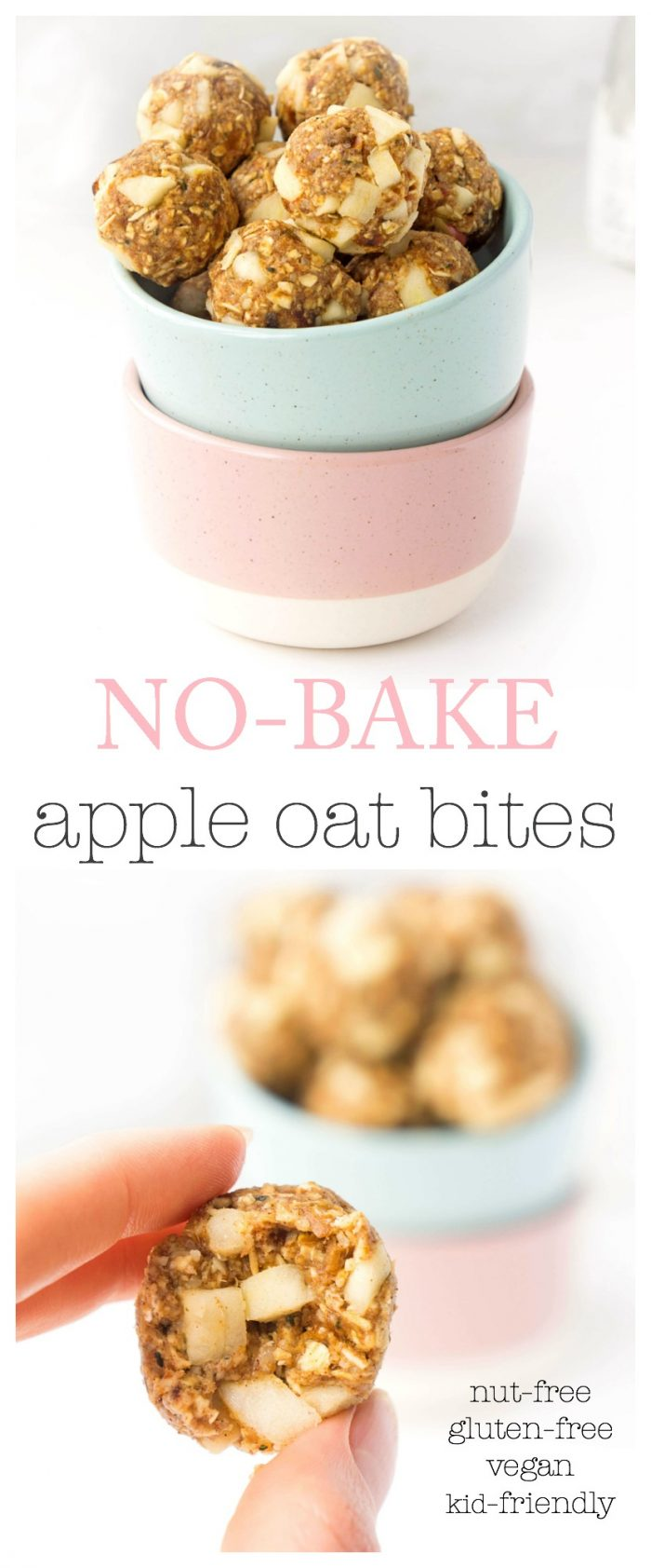 Nut-Free Apple Oat Energy Bites
