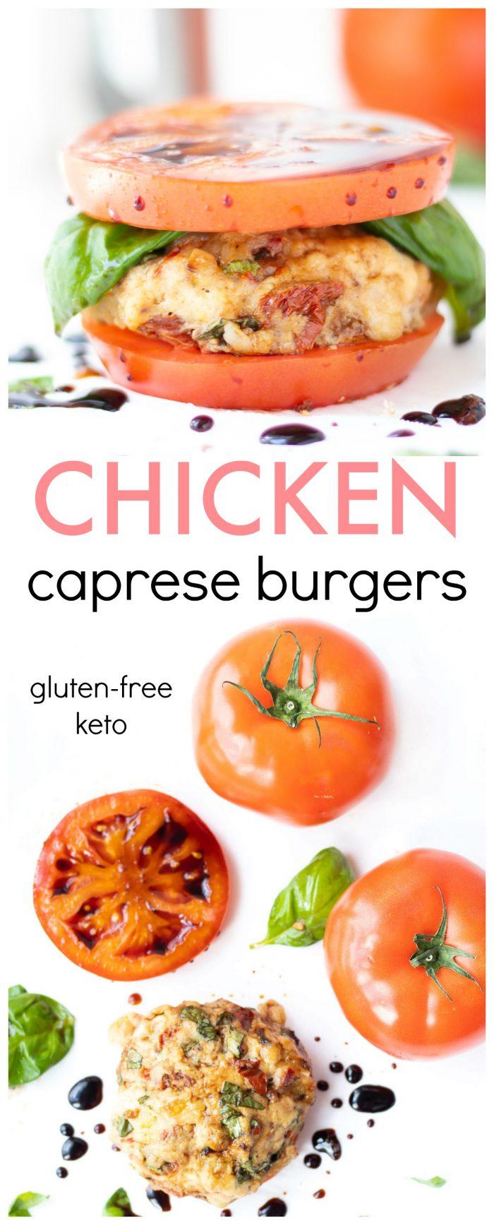 Chicken Caprese Burgers