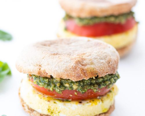 Pesto Breakfast Sandwiches