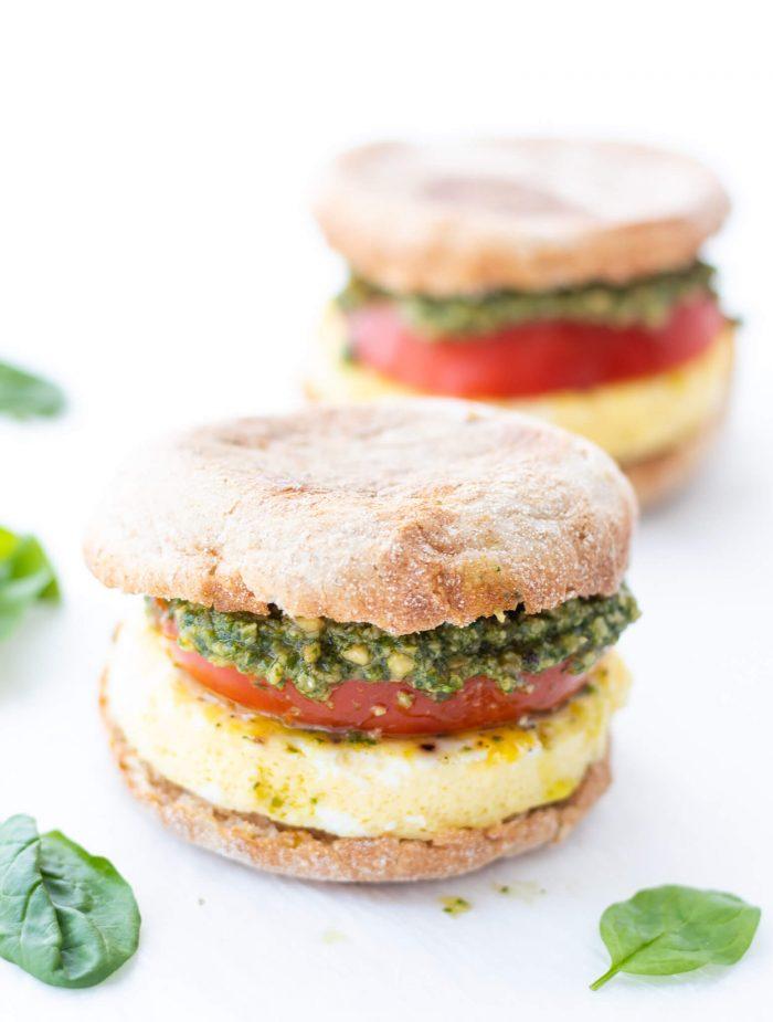 Pesto Breakfast Sandwiches