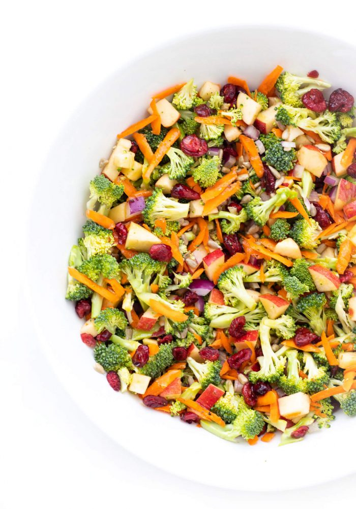 No Mayo Broccoli Apple Salad