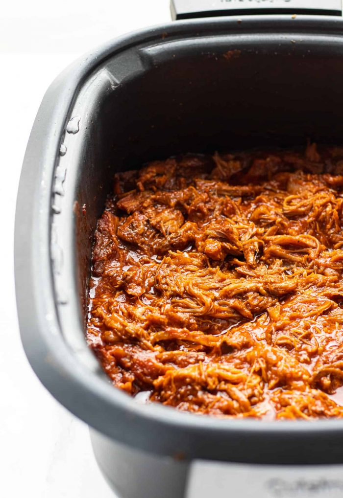 pulled pork in a crockpot