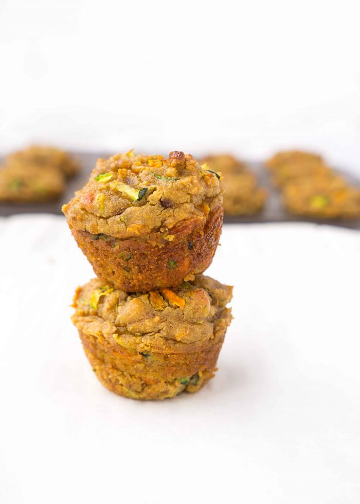 stack of mini muffins