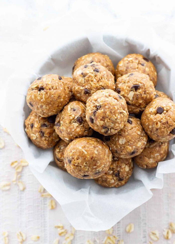 oatmeal balls in bowl