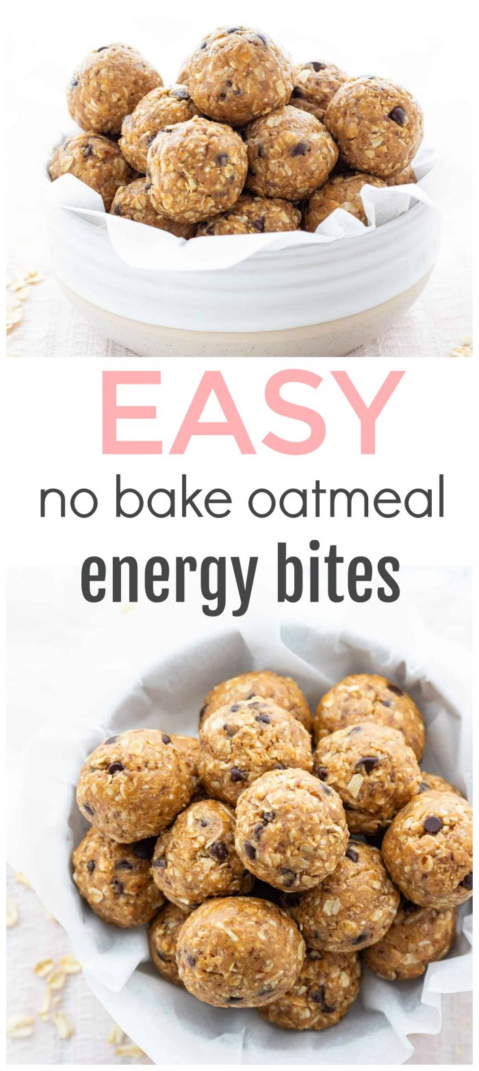 Looking for a healthy and portable snack? These No-Bake Oatmeal Energy Bites take minimal time to prepare and are perfect for snacking on throughout the week! A great make-ahead option that also happens to be freezer-friendly! {Gluten-free & vegan}