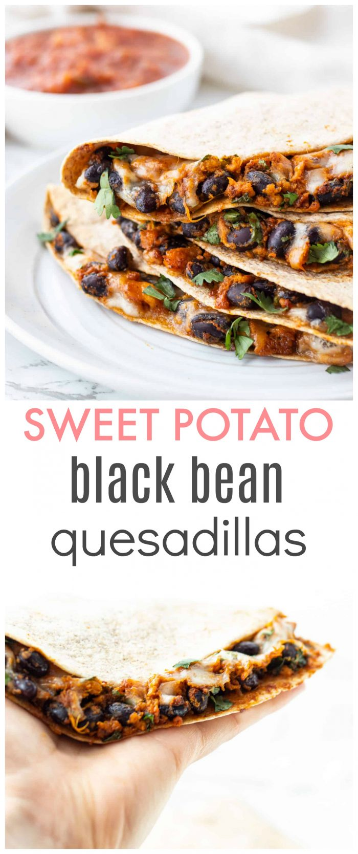 These vegetarian quesadillas are super easy to prepare and can be made in less than 30 minutes with only six simple ingredients!Made with sweet potato and black beans, it makes for the ultimate nutrient-packed meal! {vegetarian & can be madegluten-free}