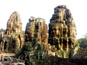Bayon's four sided carved heads