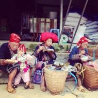 Red Dao locals