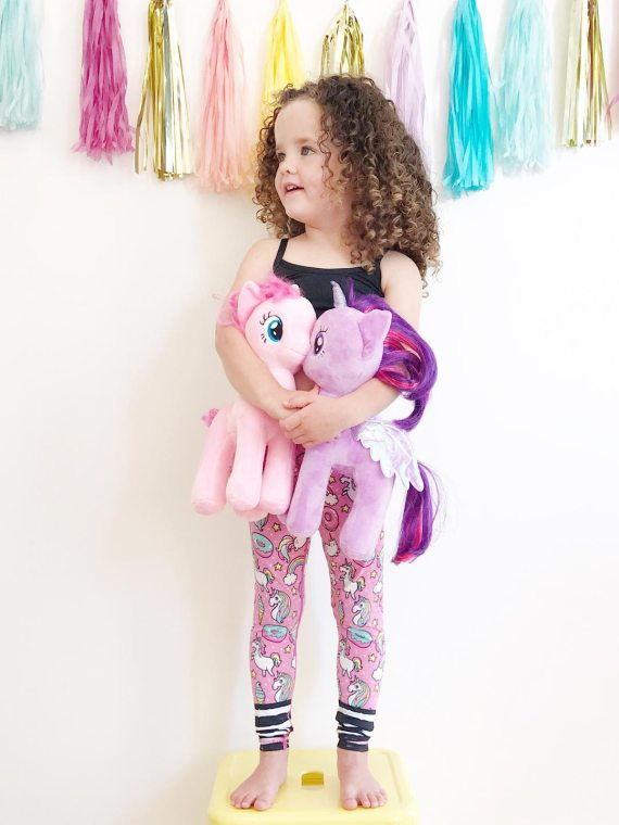 Pink Unicorn and Rainbow Flexi Kids Tights