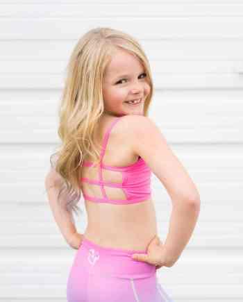 Neon Pink Lexi Kids Bralette