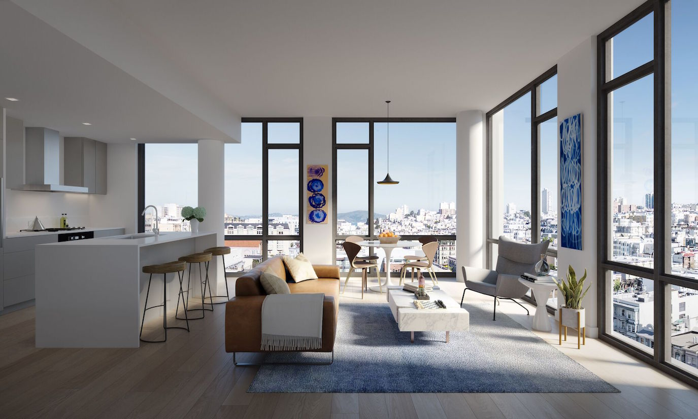 Best Kitchen Gallery: Sf's Top 10 Luxury Residential High Rises of Luxury Apartments San Francisco  on rachelxblog.com