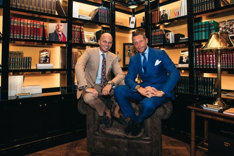 Luca Rubinacci (left) with Lapo Elkann
