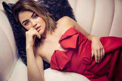 Lucy Hale Sizzle for Haute Living as she discuss Sexual assault