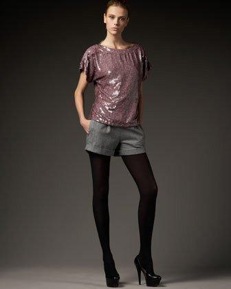 Alice + Olivia Back-Zip Trouser Shorts $396