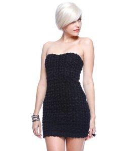 Rosette Tube Dress