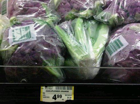 Orange Purple Cauliflower?