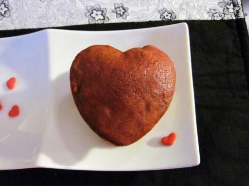 An Dyer's Heart Shaped Red Velvet Whoopie Pie