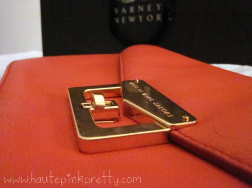Marc by Marc Jacob Bianca Leather Clutch in Orange