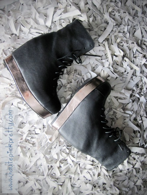 Jeffrey Campbell Back Off Black Silver sideview