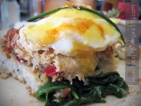 Alcove Cafe Crab Cake Benedict